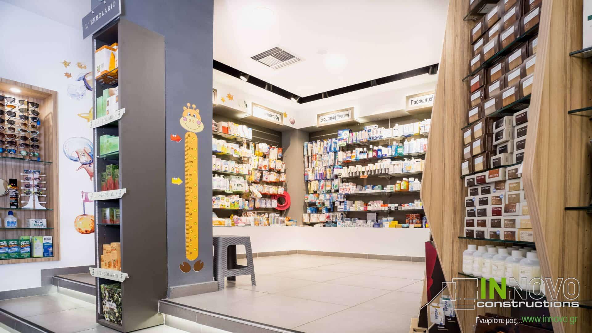 Στο Περιστέρι, ανακαίνιση και διακόσμηση φαρμακείου