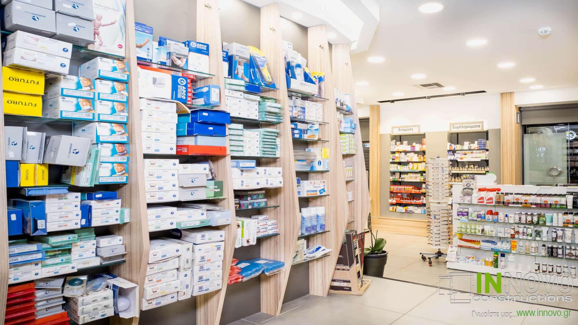Στο Περιστέρι, σχεδιασμός διακόσμησης φαρμακείου