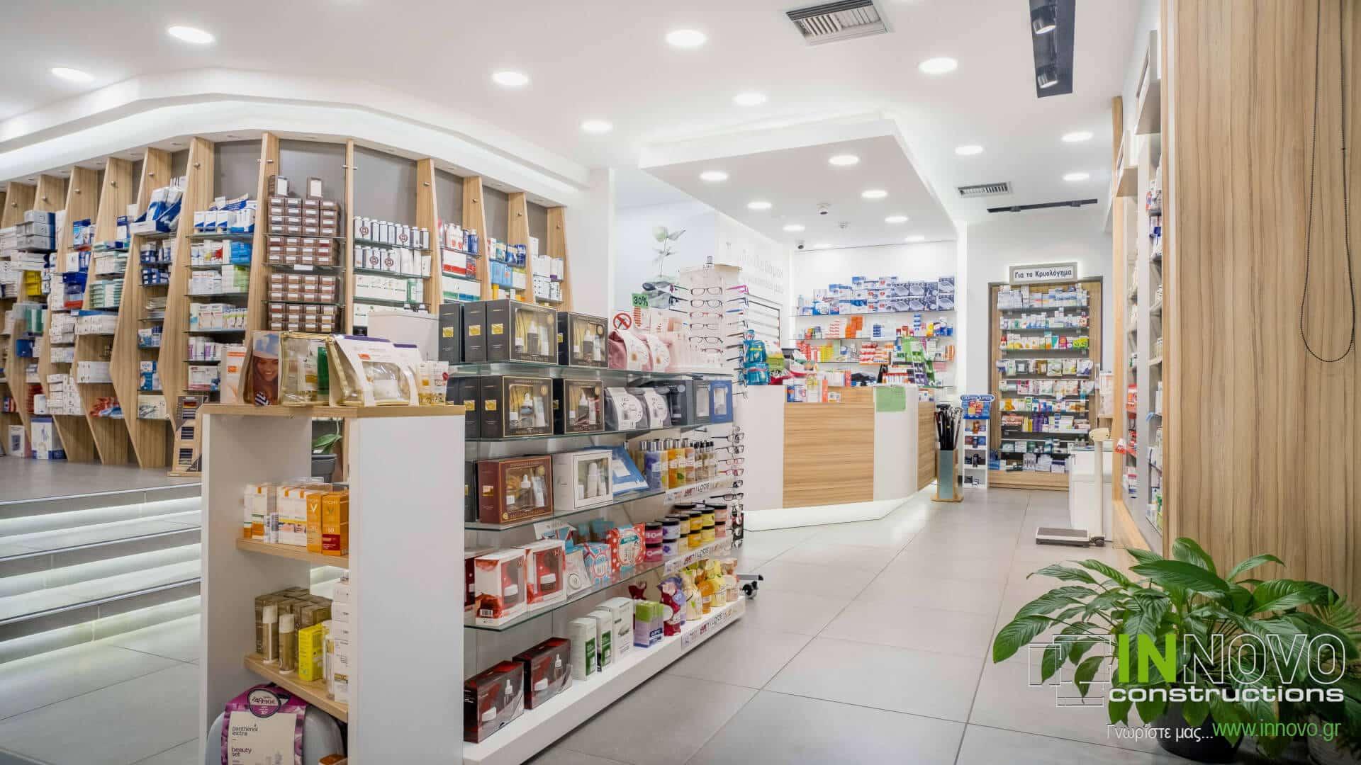 Στο Περιστέρι,κατασκευή εξοπλισμού φαρμακείου