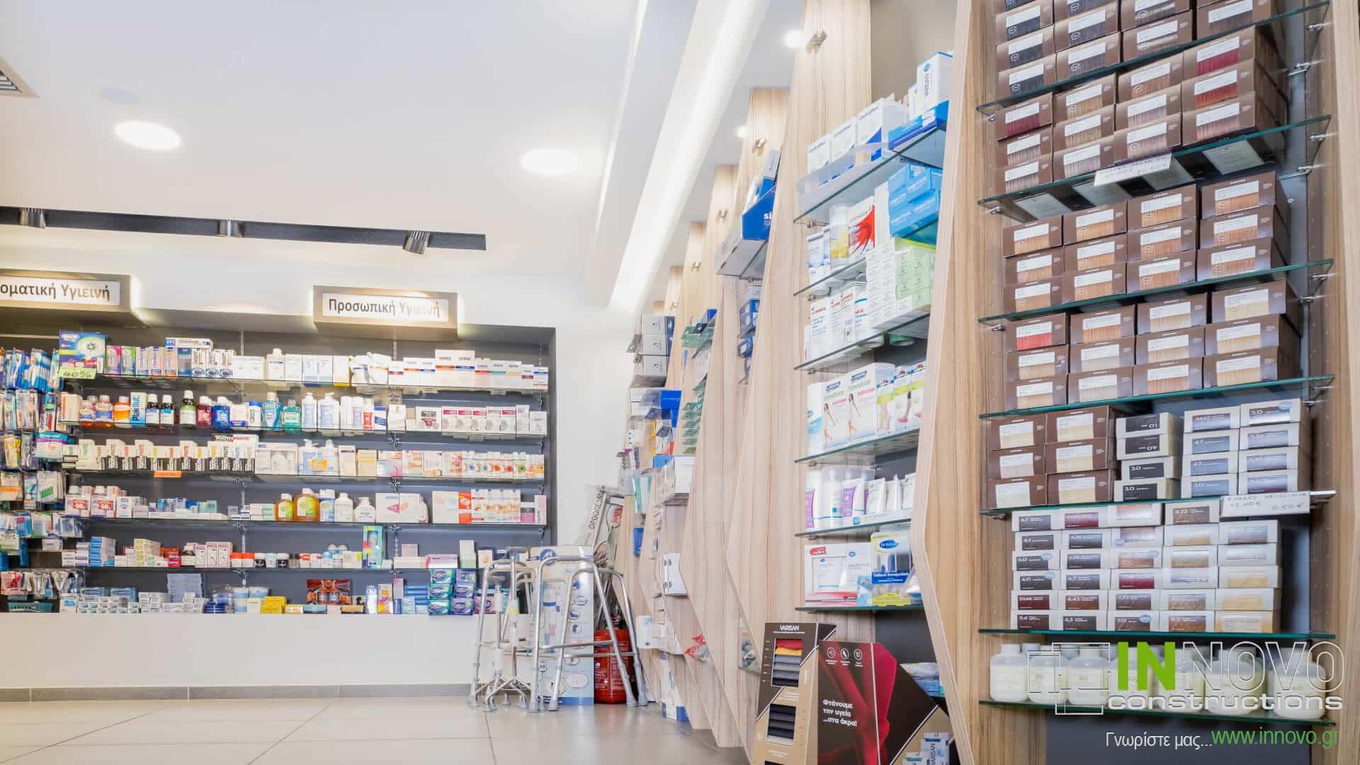 Στο Περιστέρι, σχεδιασμός επίπλωσης φαρμακείου