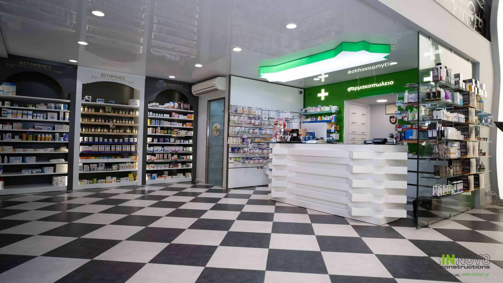 Μελέτη – Κατασκευή φαρμακείου στον Πειραιά από την Innovo Constructions
