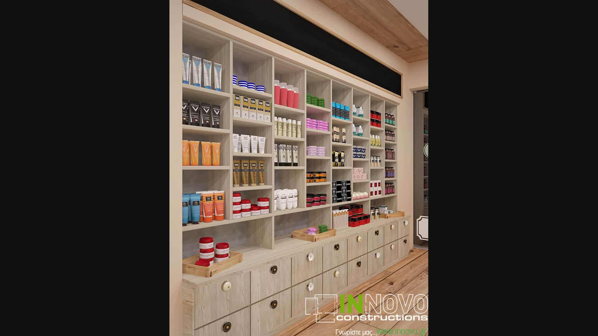 Σχεδιασμός χώρου και κατασκευή φαρμακείου στην Καλλιθέα