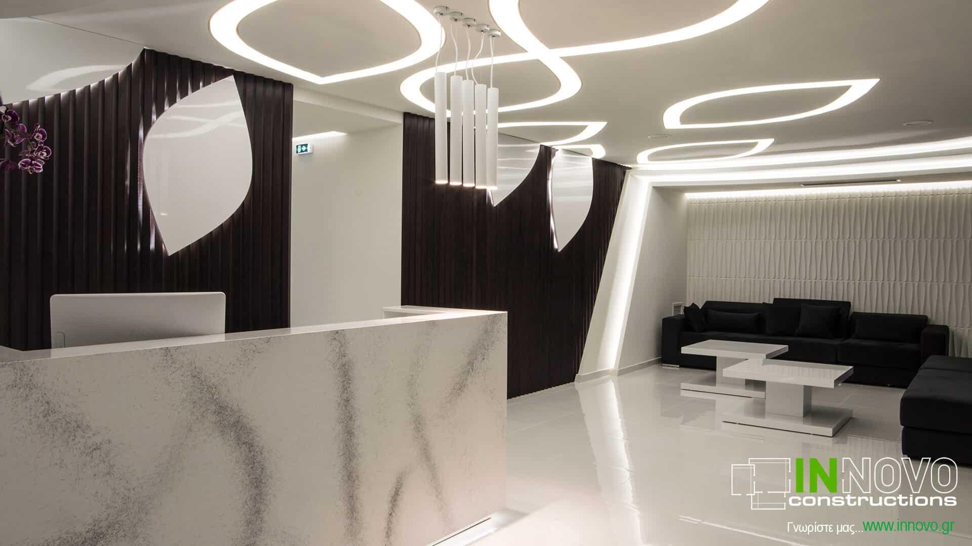 Από την Innovo κατασκευή επίπλωσης Ιατρείου Πλαστικής