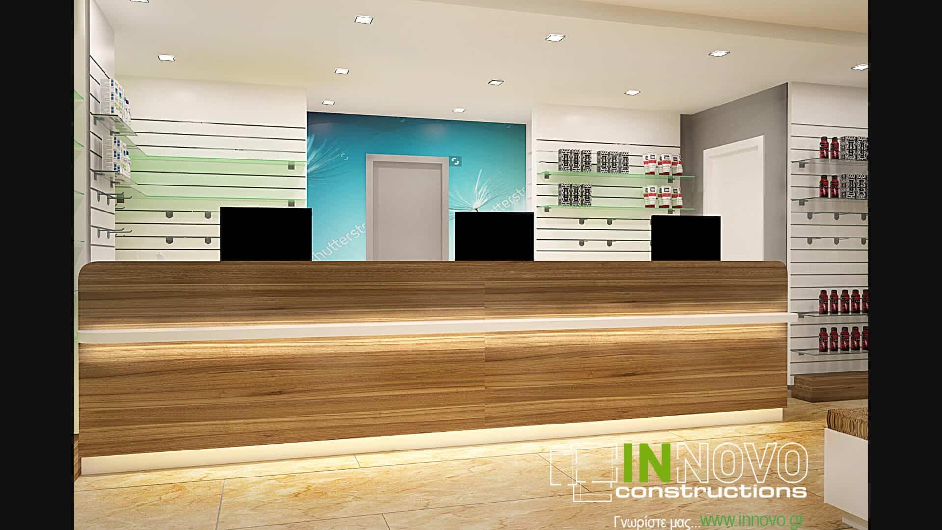 Κατασκευή φαρμακείου στο Νέο Ηράκλειοαπό την Innovo