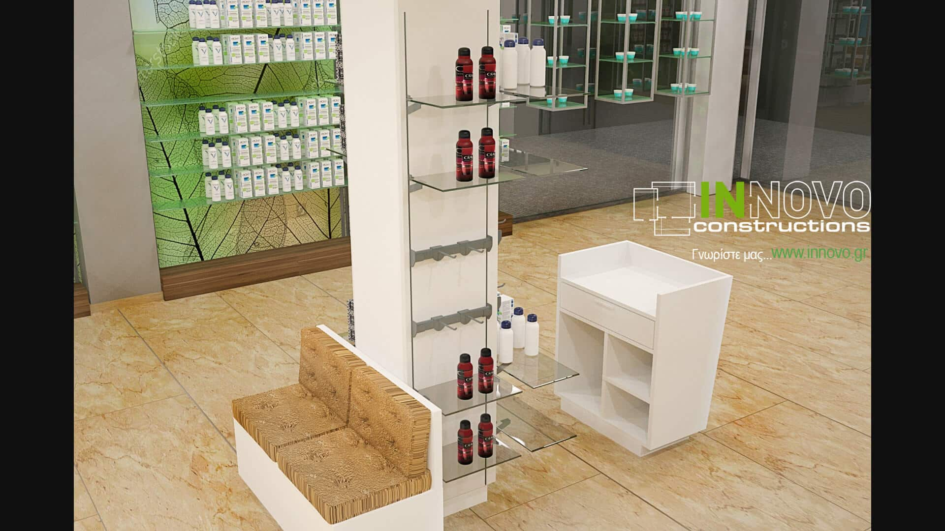 Σχεδιασμός φαρμακείου στο Νέο Ηράκλειο από την Innovo