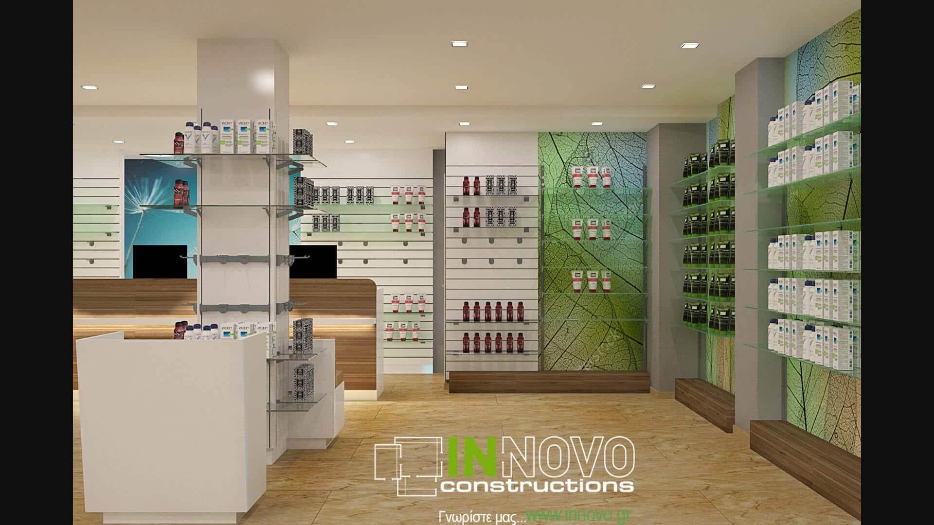 Ανακαίνιση φαρμακείου στο Νέο Ηράκλειο από την Innovo