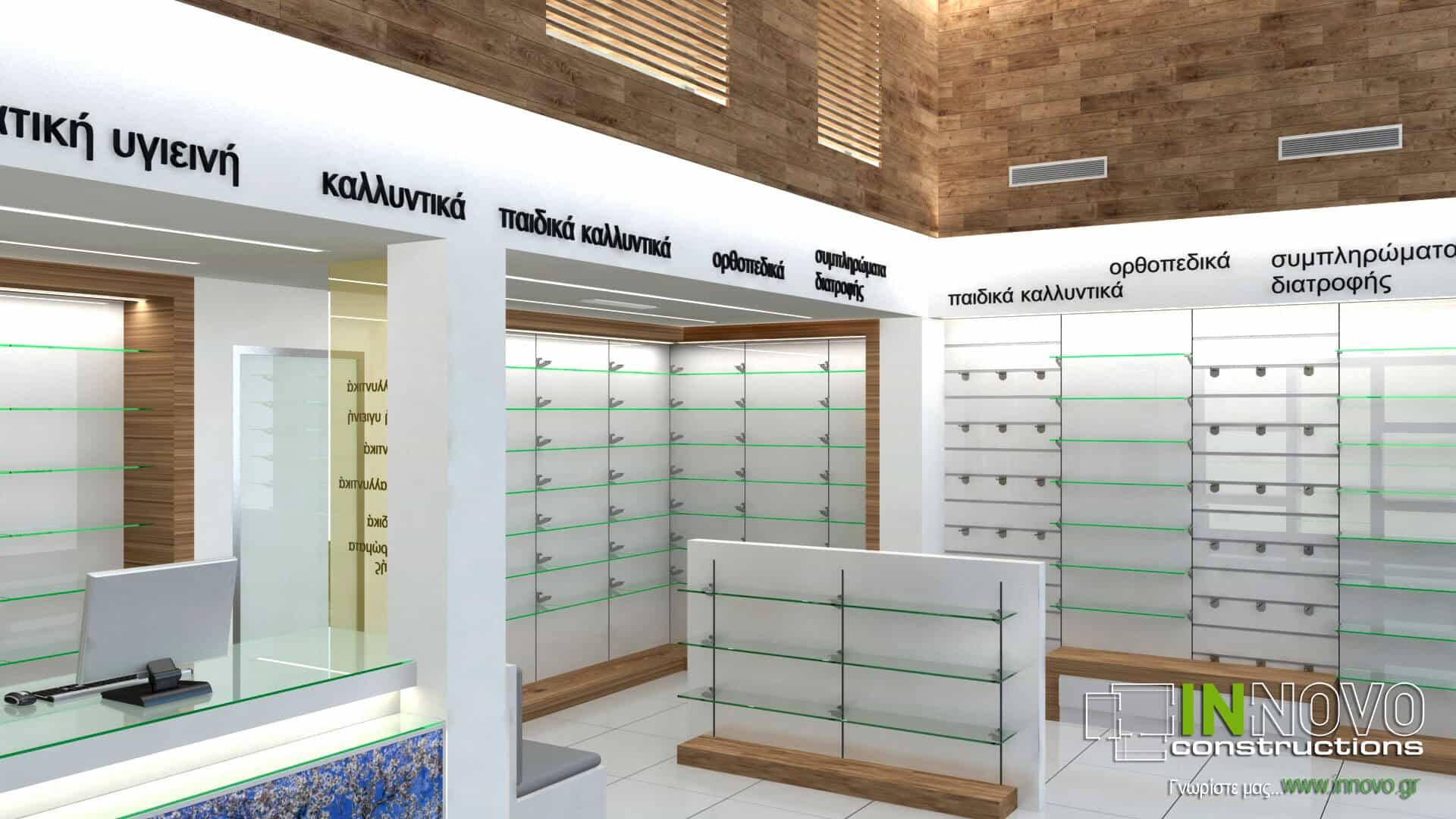 Διακόσμηση φαρμακείου Νέο Κόσμο