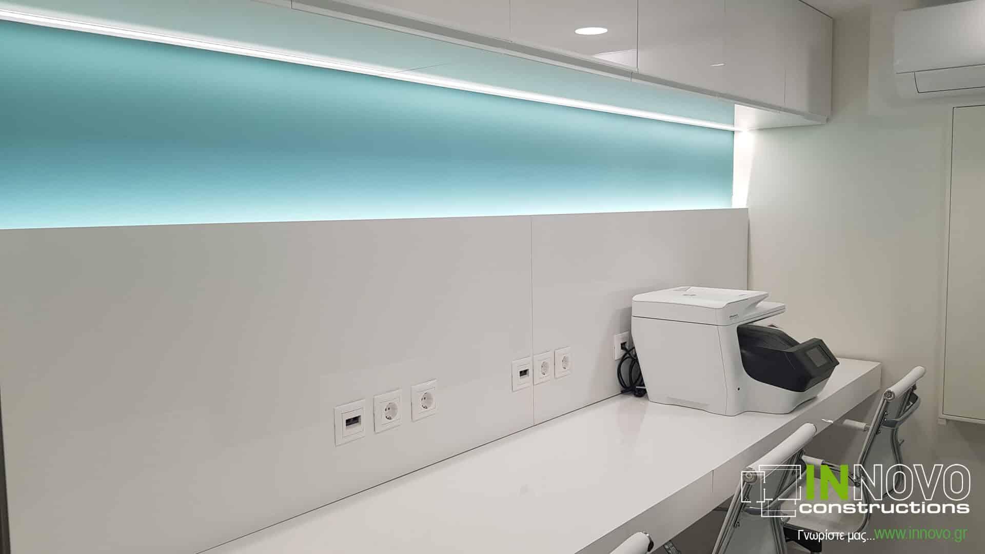 Από την Innovo Constructions σχεδιασμός εξοπλισμού Ιατρείου Πλαστικής