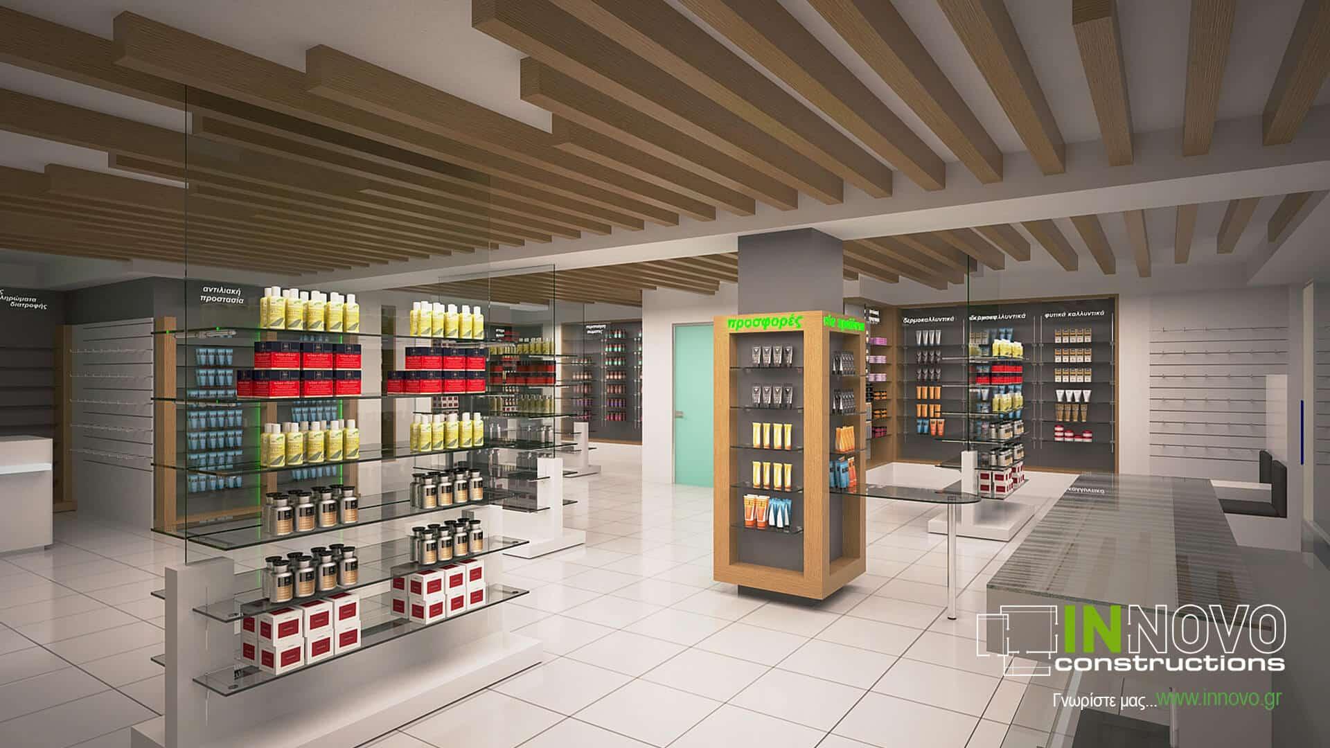 Σχεδιασμός φαρμακείου στο Καλαμάκι από την Innovo