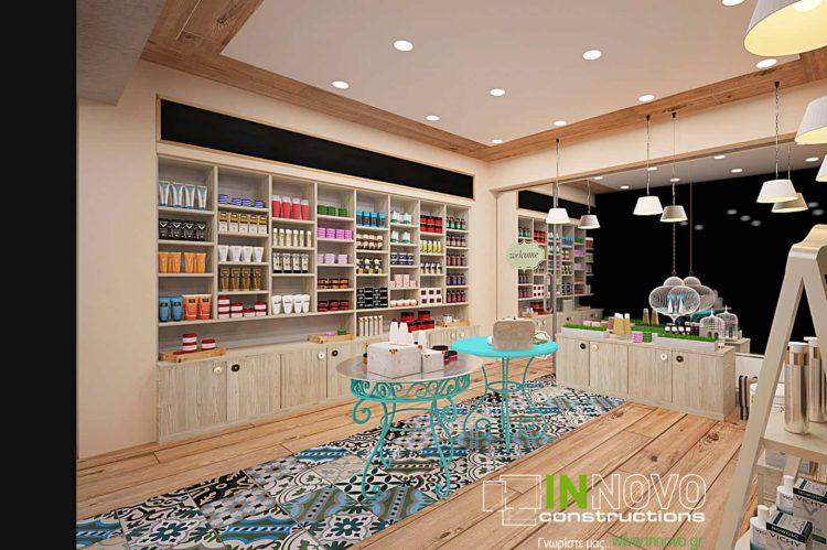 Σχεδιασμός και μελέτη χώρου φαρμακείου στην Καλλιθέα από την Innovo Constructions