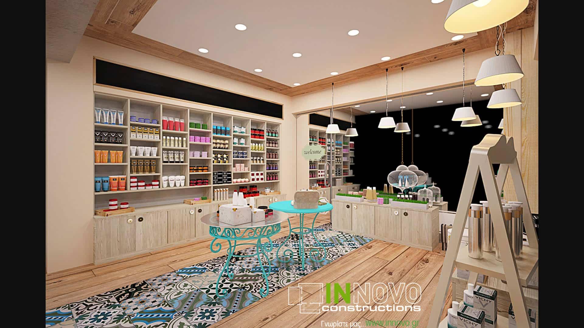Σχεδιασμός και μελέτη χώρου φαρμακείου στην Καλλιθέα από την Innovo
