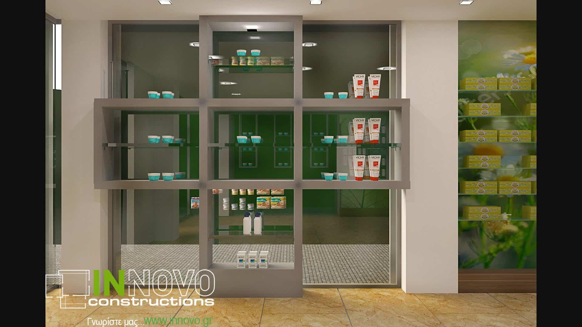 Διακόσμηση φαρμακείου στο Νέο Ηράκλειοαπό την Innovo