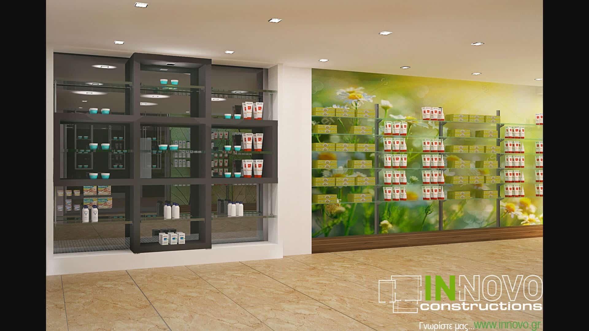 Επίπλωση φαρμακείου στο Νέο Ηράκλειοαπό την Innovo