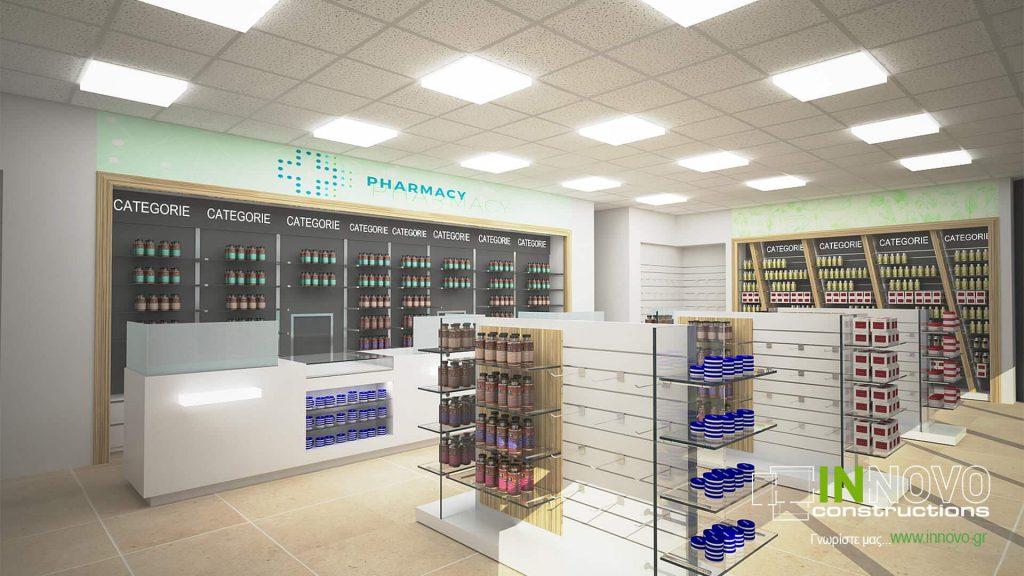 Μελέτη ανακαίνισης φαρμακείου στη Γερμανία από την Innovo Constructions