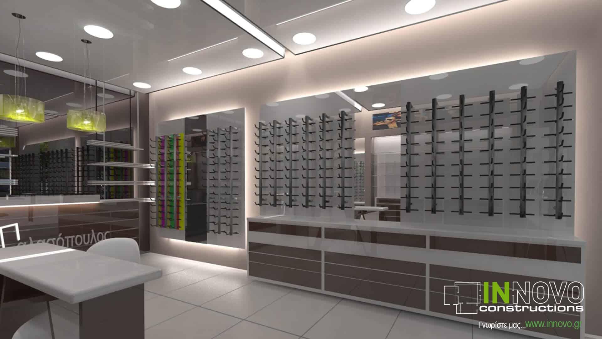 Μελέτη κατασκευής καταστήματος οπτικών στο Γαλάτσι