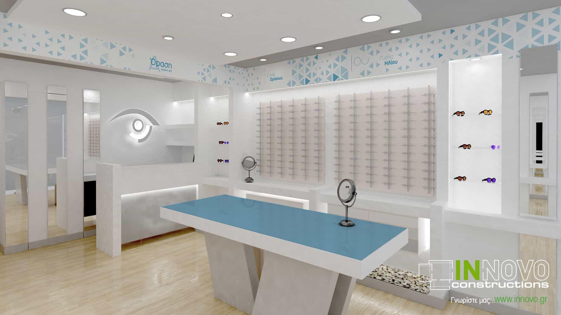 Διακόσμηση οπτικού καταστήματος στο Πέραμα
