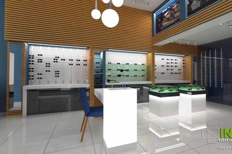 Ανακαίνιση οπτικού καταστήματος στο Μαρούσι από την Innovo Constructions