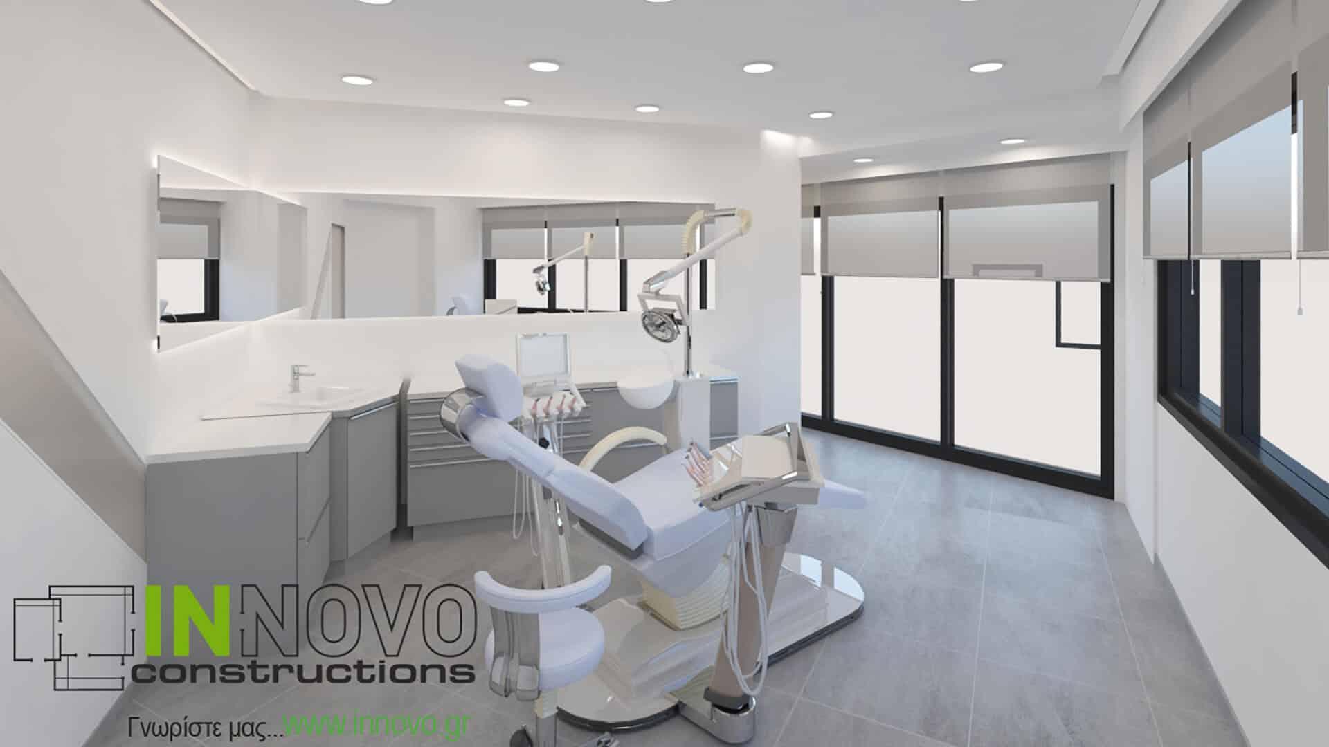 Σχεδιασμός ανακαίνισης οδοντιατρείου στο Παλαιό Φάληρο
