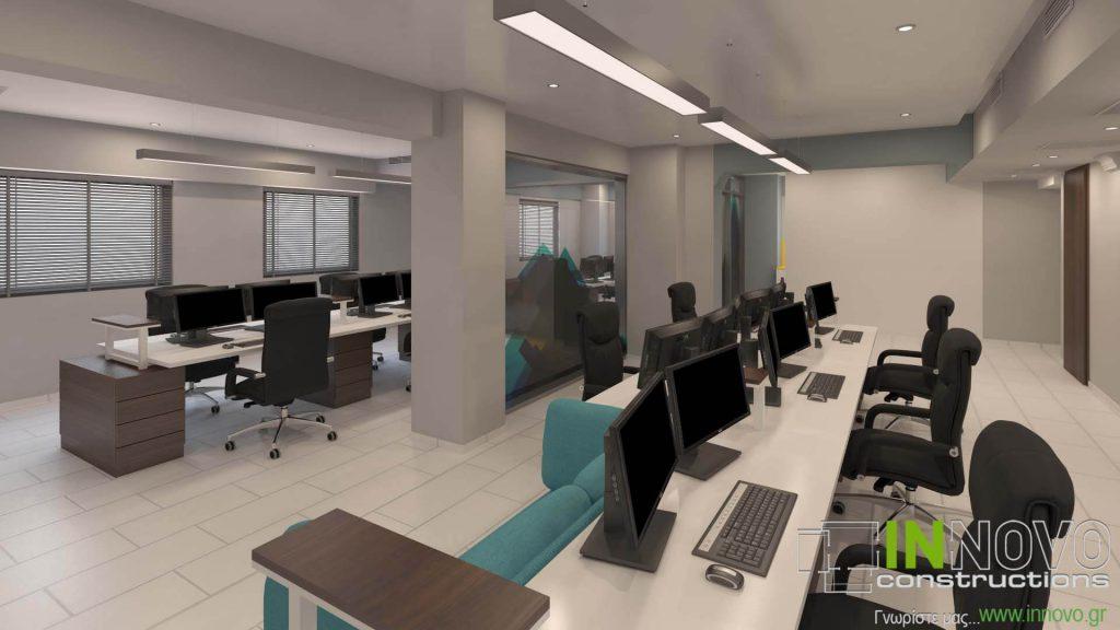 Μελέτη ανακαίνισης γραφείων στην Αθήνα