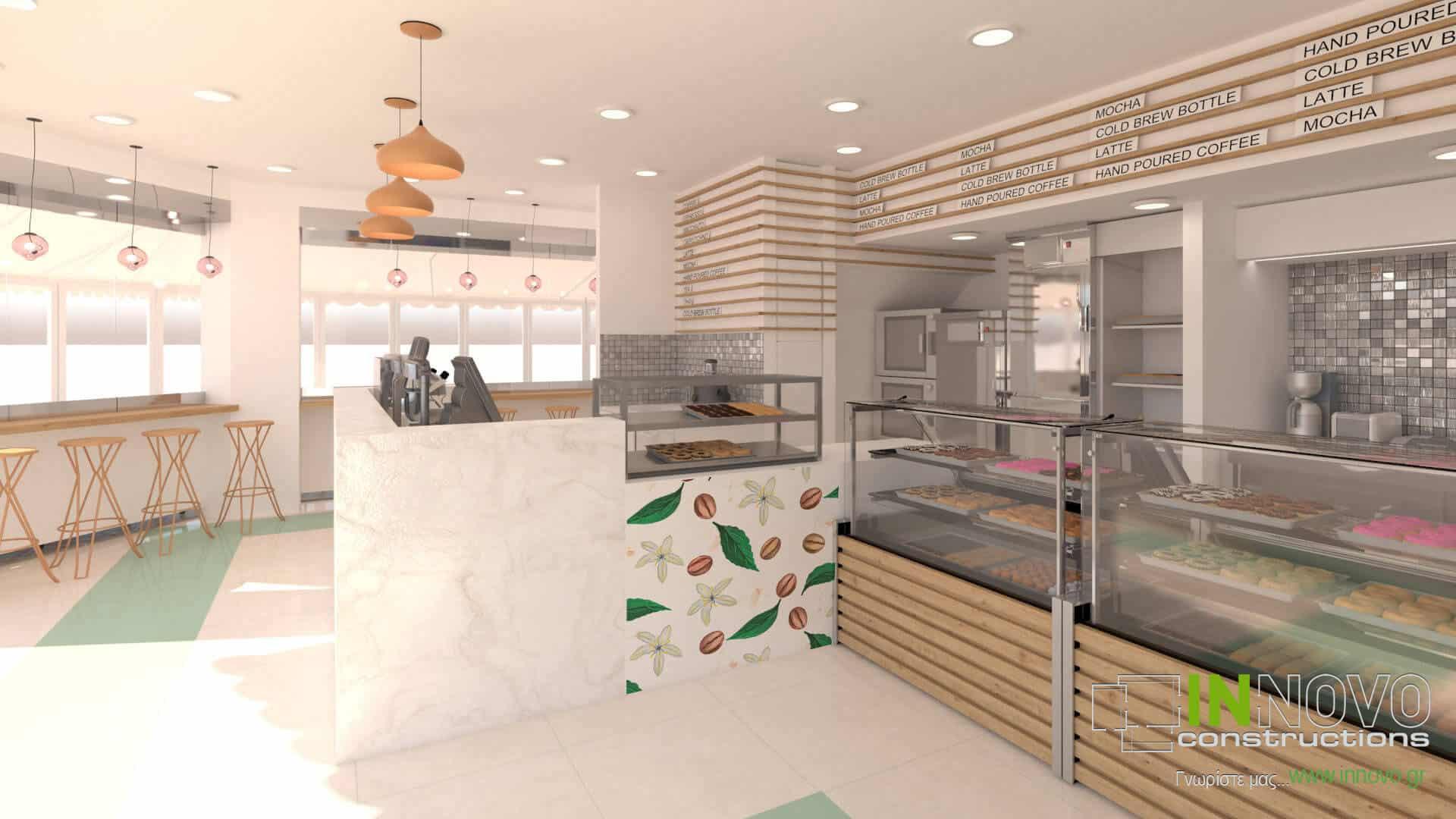 Μελέτη, σχεδιασμός, κατασκευή σνακ – καφέ