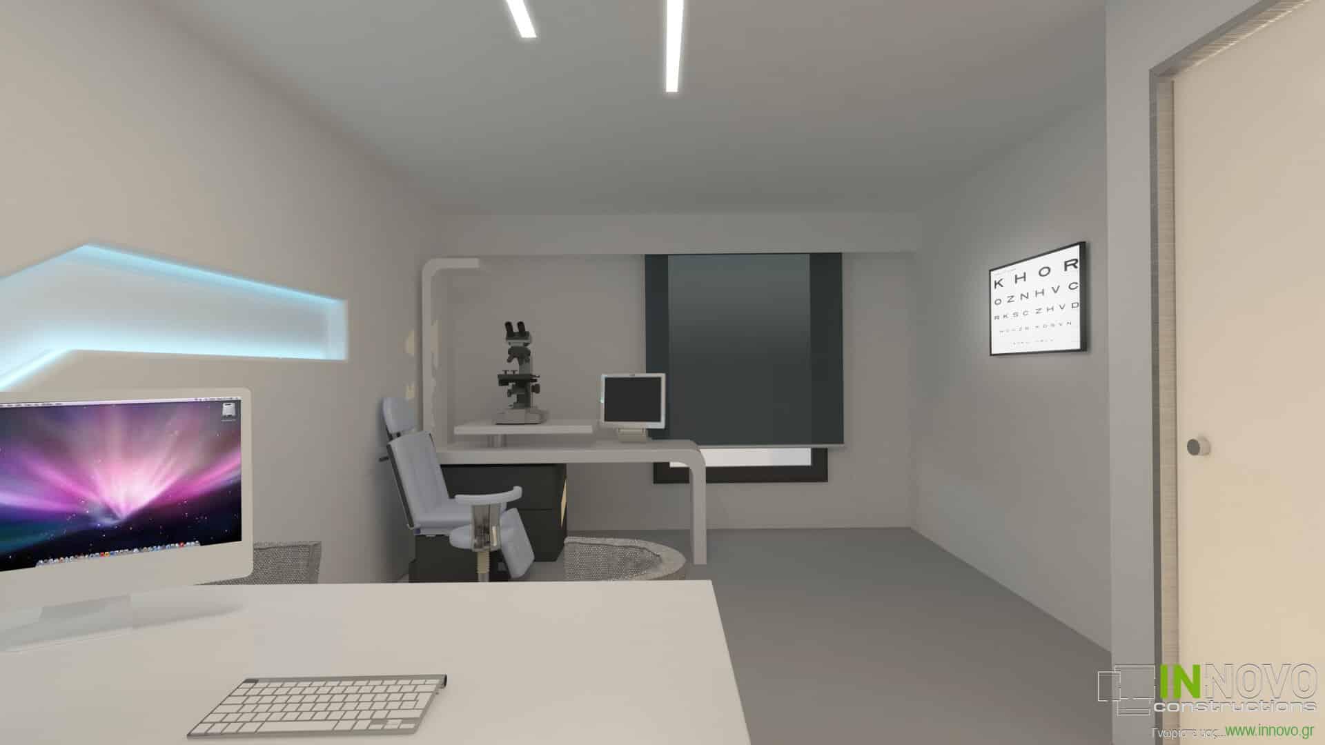 Μελέτη ανακαίνισης οφθαλμολογικής κλινικής στη Γλυφάδα