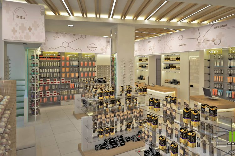 Σχεδιαστική πρόταση και μελέτη ανακαίνισης φαρμακείου Πετρούπολη