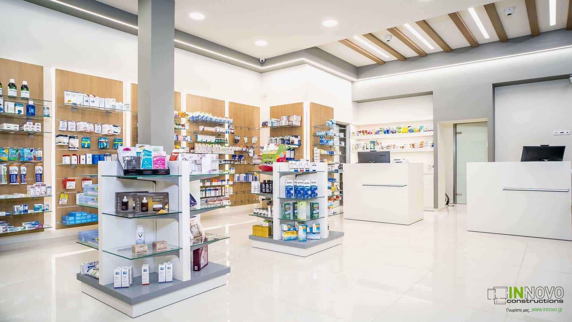 Σχεδιασμός επίπλωσης Φαρμακείου στην Ηλιούπολη