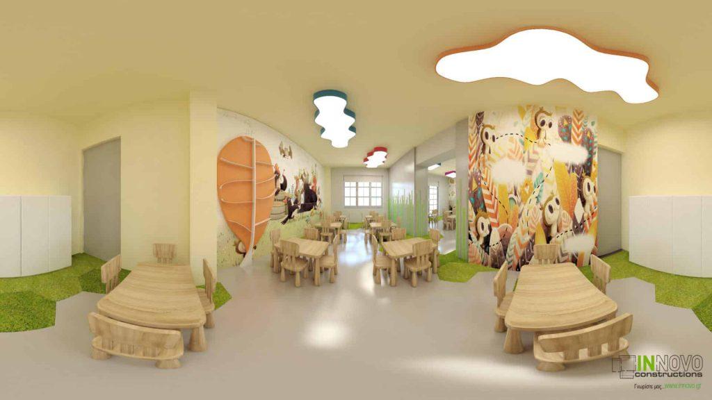 Κατασκευή παιδικού σταθμού, Άλιμος