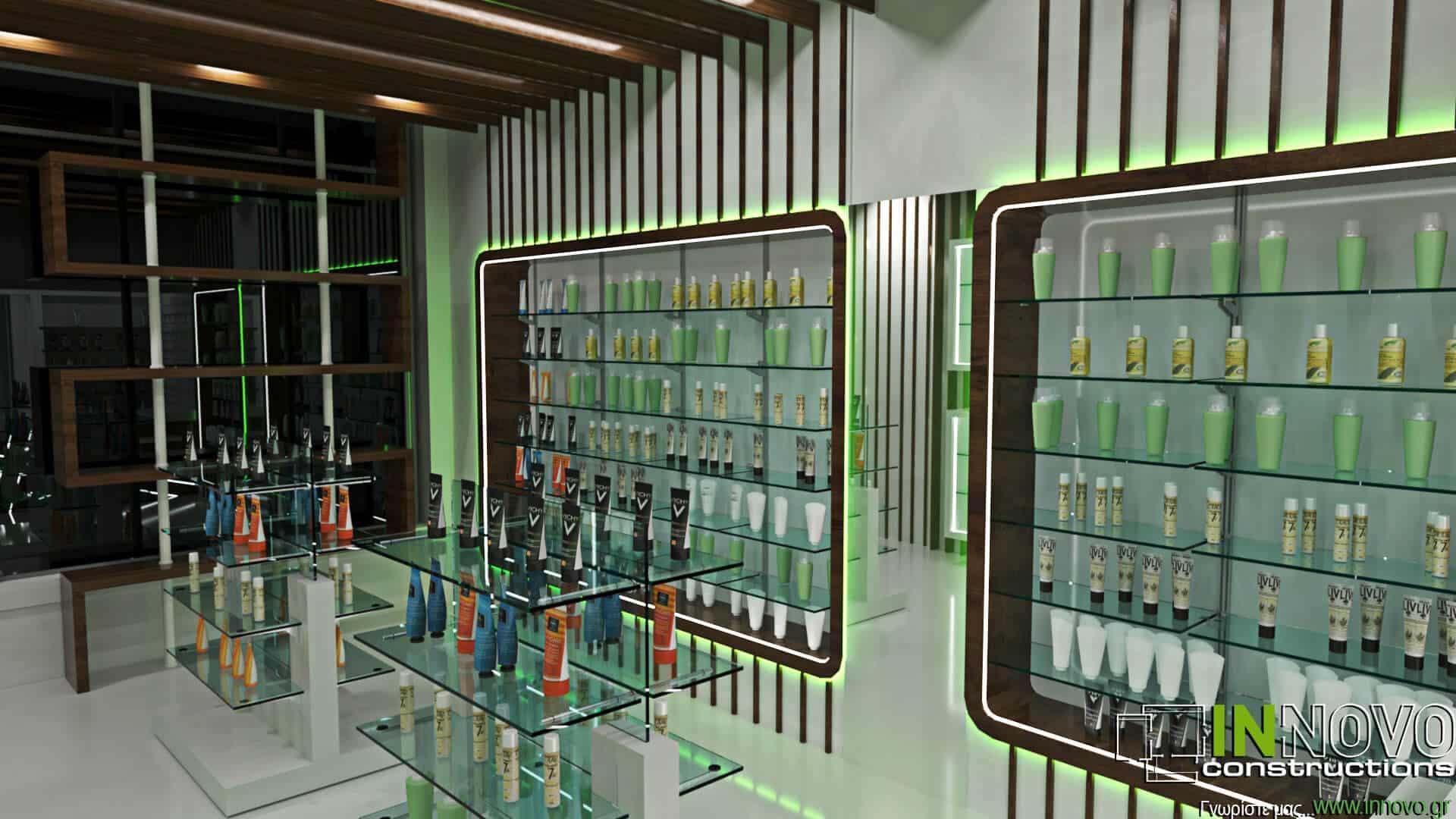 Σχεδιασμός ανακαίνισης φαρμακείου στο Άμστερνταμ