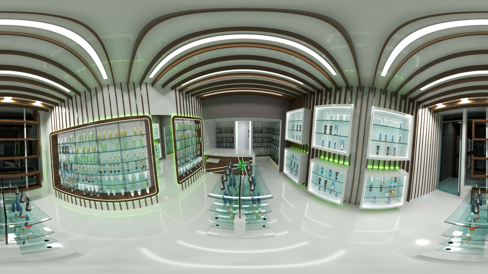 Σχεδιασμός επίπλωσης φαρμακείου στο Άμστερνταμ