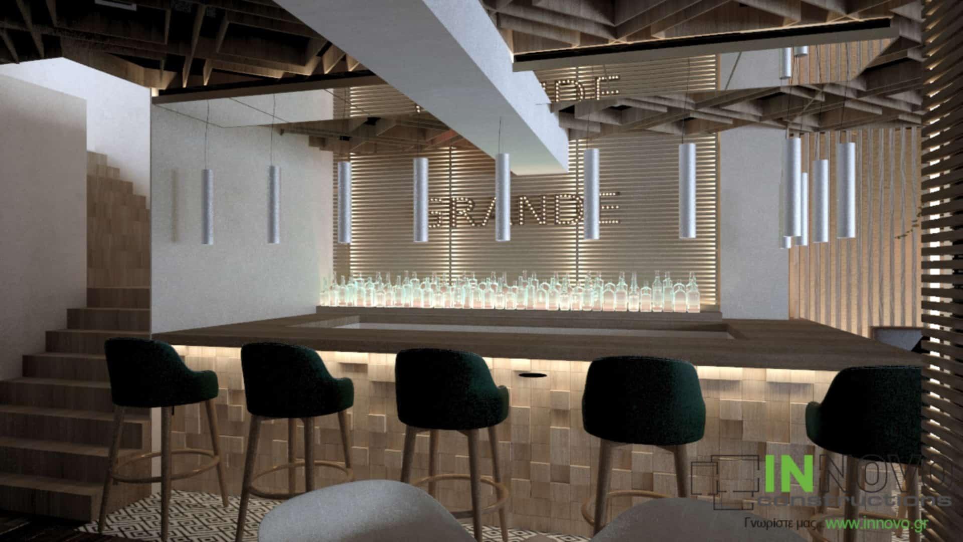 Μελέτη ανακαίνισης εστιατορίου στον Κορυδαλλό