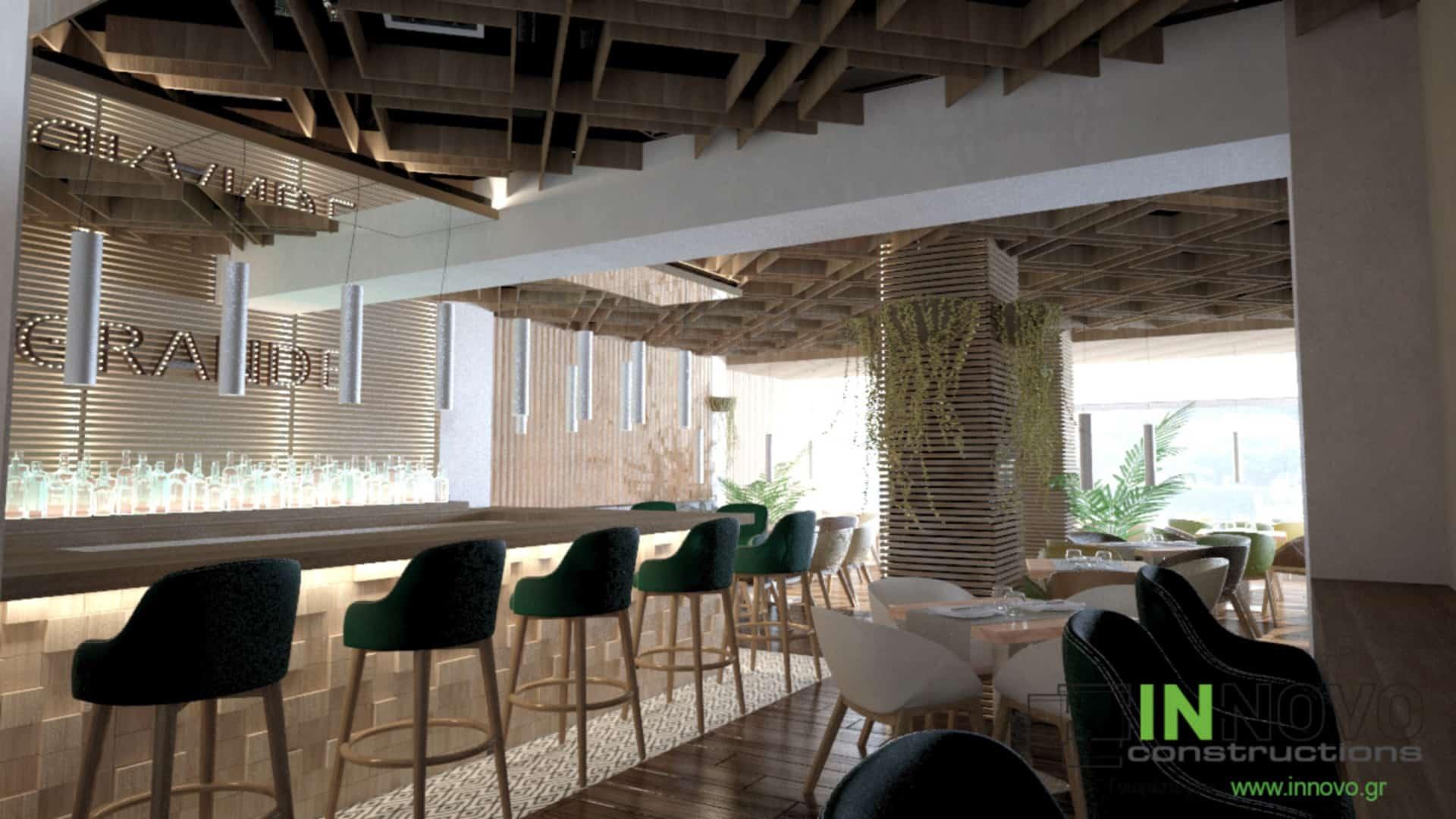 Μελέτη διακόσμησης εστιατορίου στον Κορυδαλλό