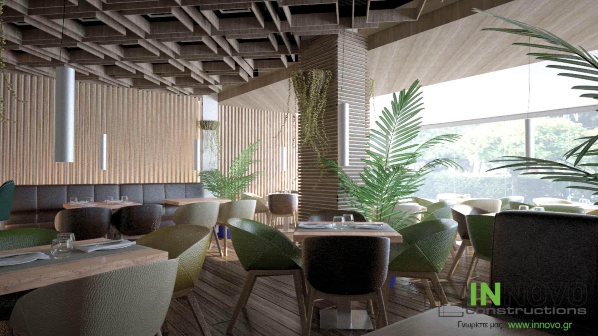 Μελέτη σχεδιασμού εστιατορίου στον Κορυδαλλό