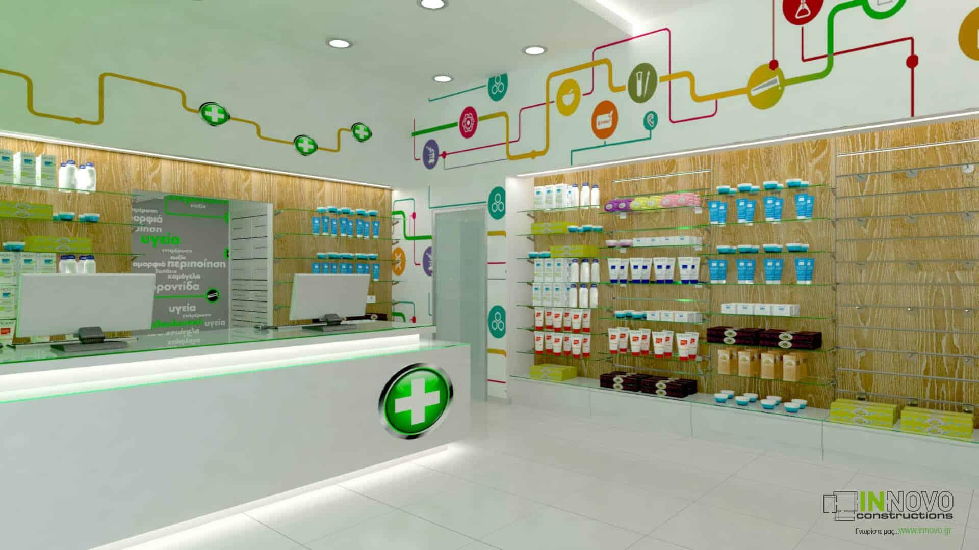 Σχεδιασμός μελέτης φαρμακείου στην Αθήνα