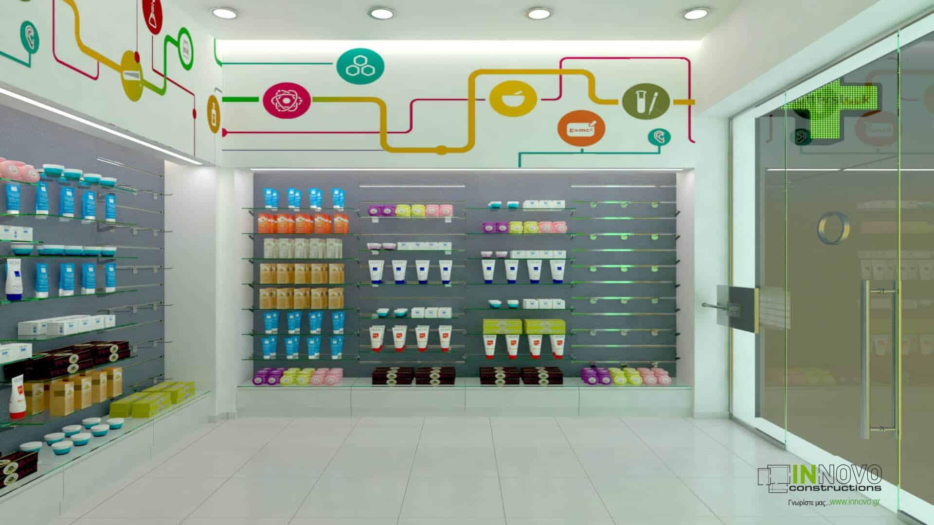 Σχεδιασμός εξοπλισμού φαρμακείου στην Αθήνα