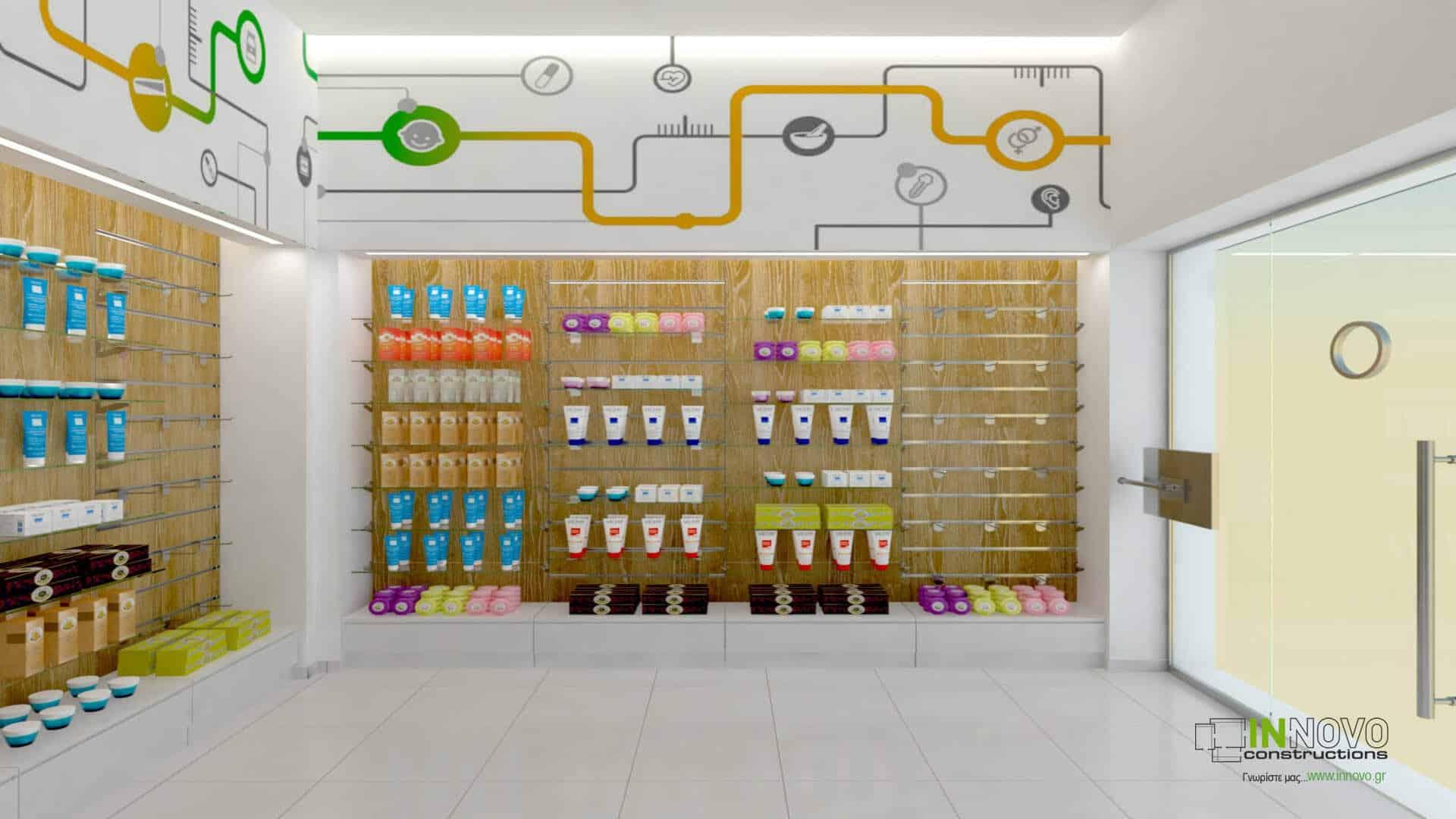 Σχεδιασμός επίπλωσης φαρμακείου στην Αθήνα
