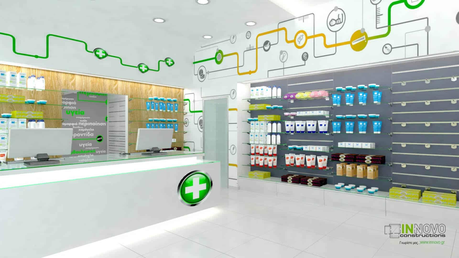 Μελέτη επίπλωσης φαρμακείου στην Αθήνα