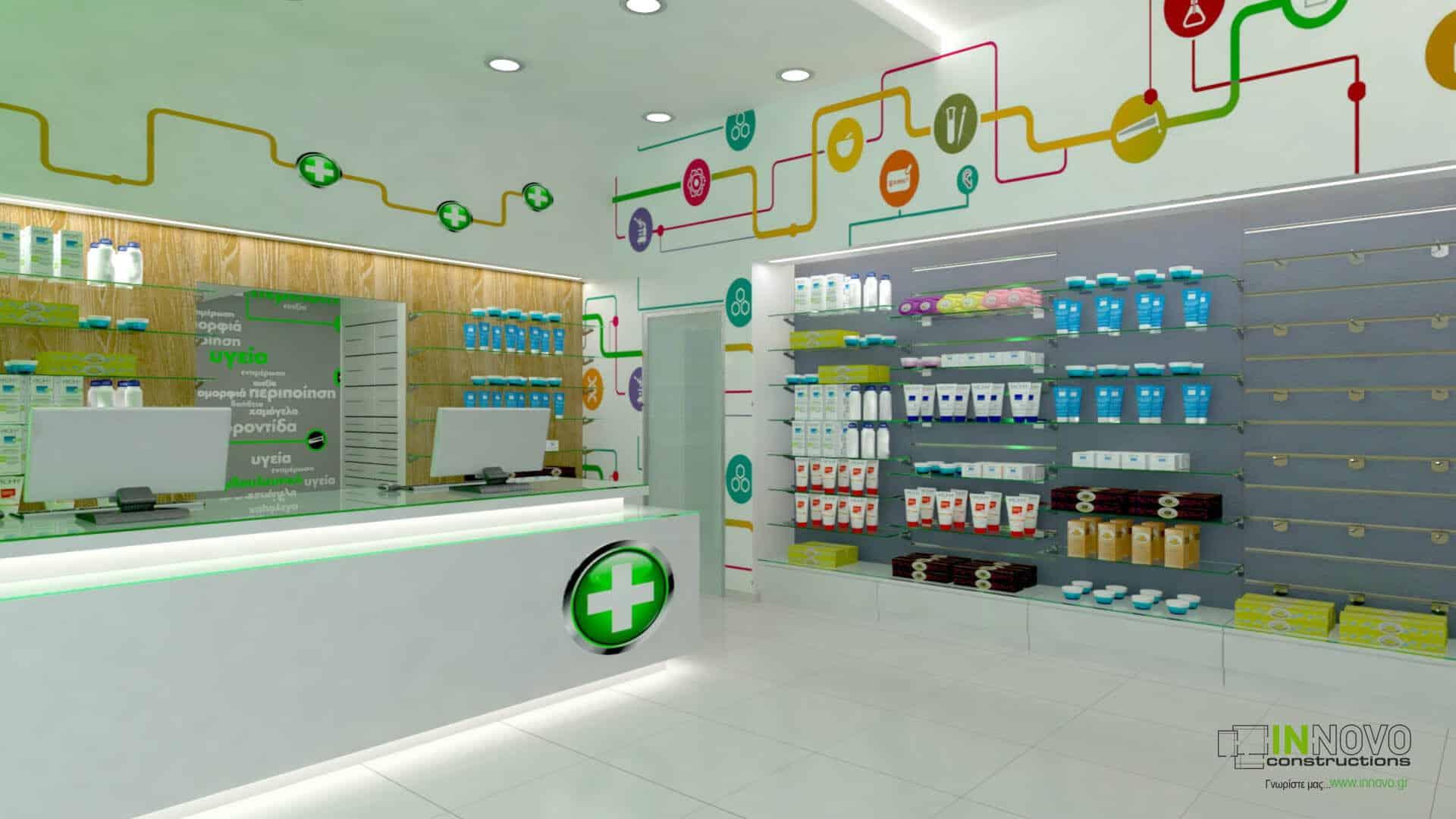 Ανακαίνιση και εξοπλισμός φαρμακείου στην Αθήνα