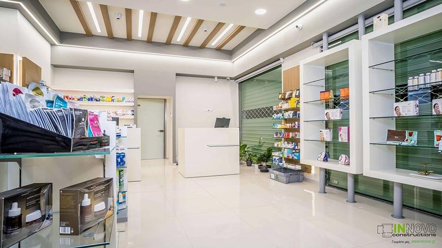 Σχεδιασμός διακόσμησης Φαρμακείου στην Ηλιούπολη