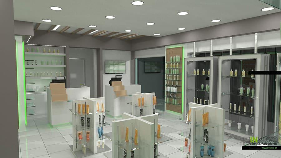 Μελέτη επίπλωσης Φαρμακείου στην Ηλιούπολη