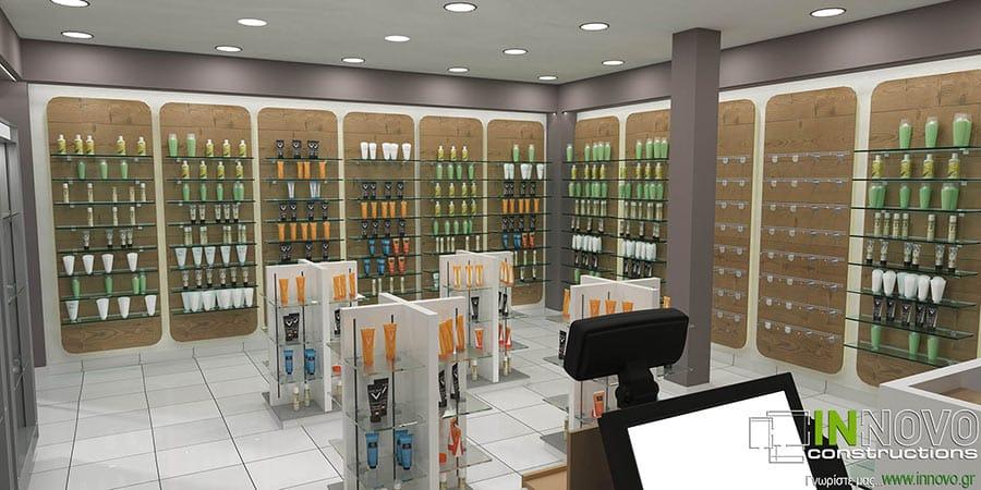 Μελέτη διακόσμησης Φαρμακείου στην Ηλιούπολη